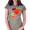 Awesome Funny Artistic Pelican with Sunglasses Womens Fitted T-Shirt