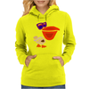Awesome Funny Artistic Pelican with Sunglasses Womens Hoodie