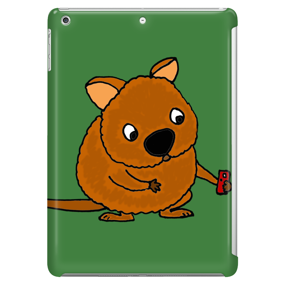 Awesome Funny Australian Quokka Taking Selfie Tablet