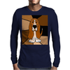Awesome Funny Basset Hound Abstract Art Mens Long Sleeve T-Shirt