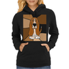 Awesome Funny Basset Hound Abstract Art Womens Hoodie