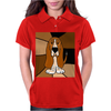 Awesome Funny Basset Hound Abstract Art Womens Polo