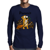 Awesome Funny Beaver and Dam Cartoon Mens Long Sleeve T-Shirt
