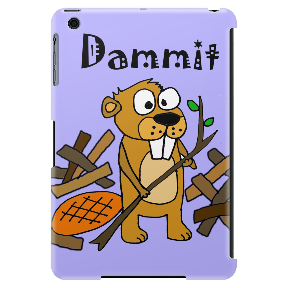 Awesome Funny Beaver and Dam Cartoon Tablet