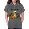 Awesome Funny Beaver and Dam Cartoon Womens Polo