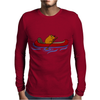 Awesome Funny Beaver in Red Canoe Mens Long Sleeve T-Shirt
