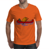 Awesome Funny Beaver in Red Canoe Mens T-Shirt