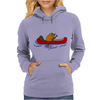 Awesome Funny Beaver in Red Canoe Womens Hoodie