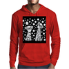 Awesome Funny Black and White Dalmatian Dogs Abstract Art Mens Hoodie