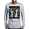 Awesome Funny Black and White Dalmatian Dogs Abstract Art Mens Long Sleeve T-Shirt