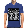 Awesome Funny Black and White Dalmatian Dogs Abstract Art Mens Polo