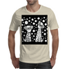 Awesome Funny Black and White Dalmatian Dogs Abstract Art Mens T-Shirt