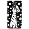 Awesome Funny Black and White Dalmatian Dogs Abstract Art Phone Case