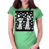 Awesome Funny Black and White Dalmatian Dogs Abstract Art Womens Fitted T-Shirt