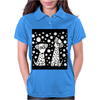 Awesome Funny Black and White Dalmatian Dogs Abstract Art Womens Polo