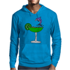 Awesome Funny Blue Dolphin Leaping from Margarita Glass Mens Hoodie
