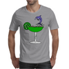 Awesome Funny Blue Dolphin Leaping from Margarita Glass Mens T-Shirt