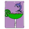 Awesome Funny Blue Dolphin Leaping from Margarita Glass Tablet