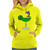 Awesome Funny Blue Dolphin Leaping from Margarita Glass Womens Hoodie