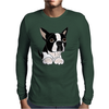 Awesome Funny Boston Terrier Puppy Dog Art Mens Long Sleeve T-Shirt