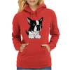 Awesome Funny Boston Terrier Puppy Dog Art Womens Hoodie