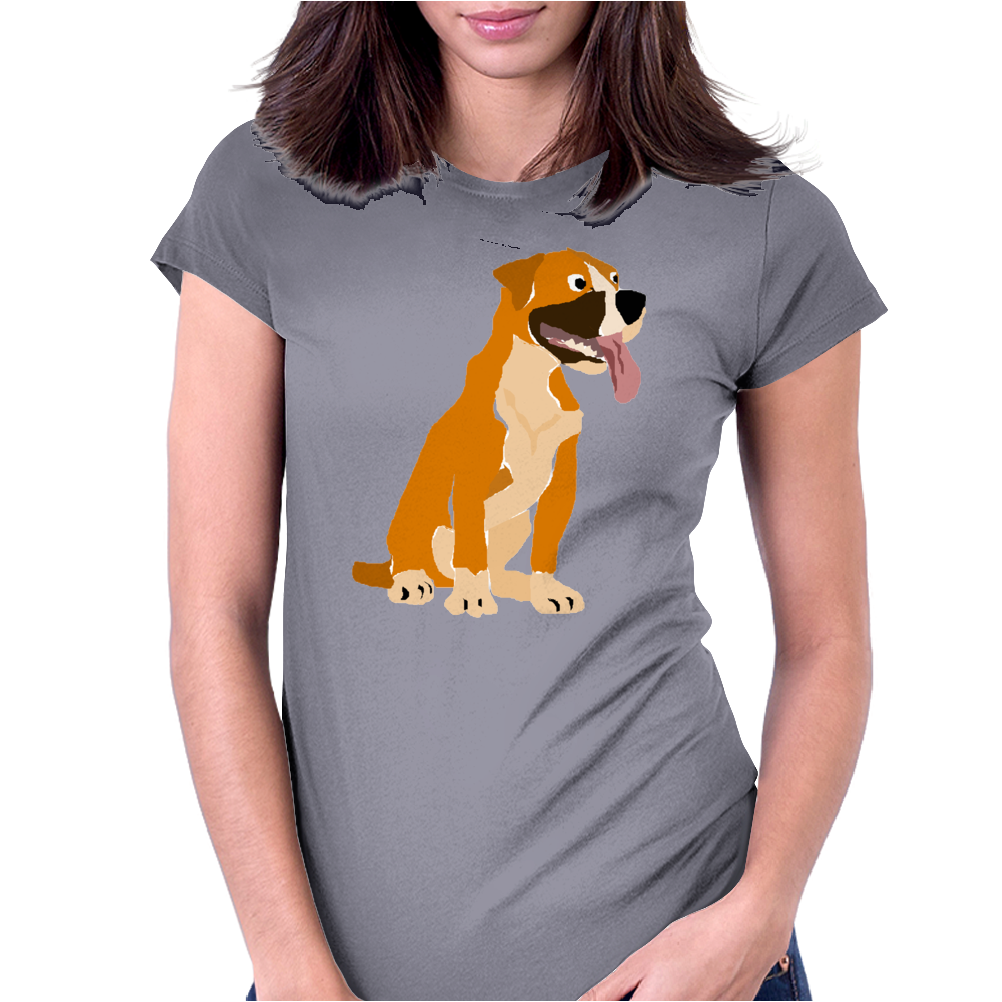 Awesome Funny Boxer Dog Original Art Womens Fitted T-Shirt