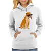 Awesome Funny Boxer Dog Original Art Womens Hoodie