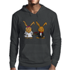 Awesome Funny Bride and Groom Rabbit Cartoon Mens Hoodie