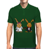 Awesome Funny Bride and Groom Rabbit Cartoon Mens Polo