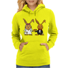 Awesome Funny Bride and Groom Rabbit Cartoon Womens Hoodie