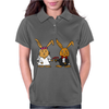 Awesome Funny Bride and Groom Rabbit Cartoon Womens Polo