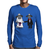 Awesome Funny Bride and Groom Sheep Wedding Cartoon Mens Long Sleeve T-Shirt
