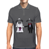 Awesome Funny Bride and Groom Sheep Wedding Cartoon Mens Polo