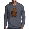 Awesome Funny Brown Bear Hiker Mens Hoodie