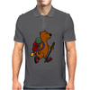 Awesome Funny Brown Bear Hiker Mens Polo