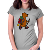 Awesome Funny Brown Bear Hiker Womens Fitted T-Shirt