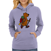 Awesome Funny Brown Bear Hiker Womens Hoodie