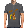 Awesome Funny Bunny Rabbit Holding Daffodil Flowers Mens Polo
