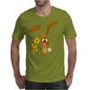 Awesome Funny Bunny Rabbit Holding Daffodil Flowers Mens T-Shirt