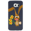 Awesome Funny Bunny Rabbit Holding Daffodil Flowers Phone Case