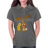 Awesome Funny Bunny Rabbit Holding Daffodil Flowers Womens Polo