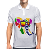 Awesome Funny Colorful Elephant in Sunglasses Art Mens Polo