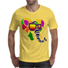 Awesome Funny Colorful Elephant in Sunglasses Art Mens T-Shirt