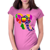 Awesome Funny Colorful Elephant in Sunglasses Art Womens Fitted T-Shirt