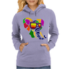Awesome Funny Colorful Elephant in Sunglasses Art Womens Hoodie