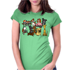 Awesome Funny Cute Assorted Pets Abstract Art Womens Fitted T-Shirt