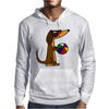 Awesome Funny Dachshund Dog at the Beach Mens Hoodie