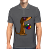 Awesome Funny Dachshund Dog at the Beach Mens Polo