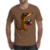 Awesome Funny Dachshund Dog at the Beach Mens T-Shirt