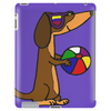 Awesome Funny Dachshund Dog at the Beach Tablet